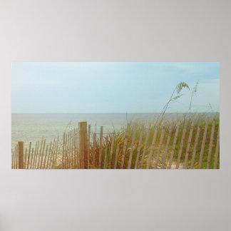 Seaside Brush 31 x 16 Poster