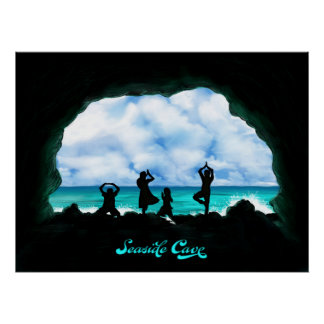 Seaside Cave Poster