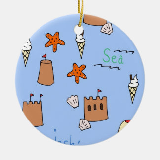 seaside ceramic ornament