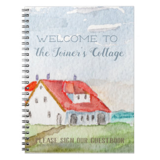 Seaside Cottage Welcome Personalized Notebook