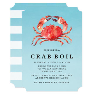 Seaside Crab Boil | Summer Party Invitation