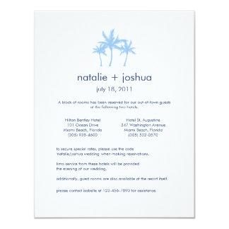 Seaside Dreams Wedding Accommodations Card 11 Cm X 14 Cm Invitation Card