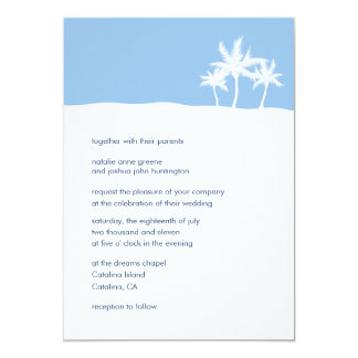 Seaside Dreams Wedding Invitation Card