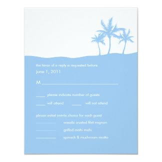 Seaside Dreams Wedding RSVP Card