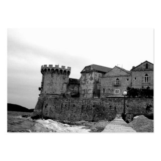 Seaside Fortress in Korcula Business Card Templates