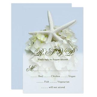 Seaside Garden Wedding 5 choice menu RSVP 9 Cm X 13 Cm Invitation Card
