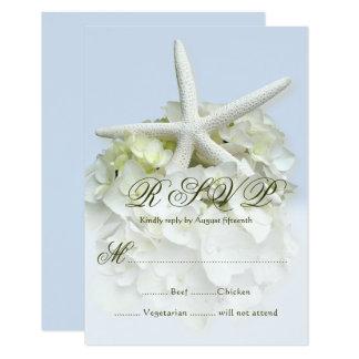 Seaside Garden Wedding Menu Reply Enclosure Card 9 Cm X 13 Cm Invitation Card