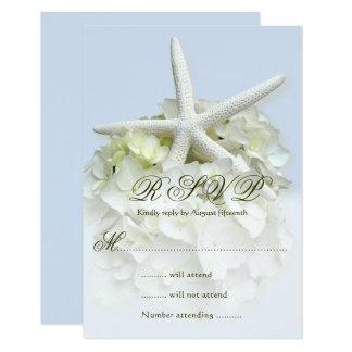 Seaside Garden Wedding Reply Enclosure Card 9 Cm X 13 Cm Invitation Card