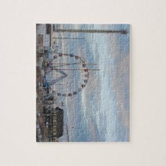 Seaside Heights Sunrise Funtown Pier Jersey Shore Puzzle
