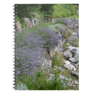 Seaside Lavender Path Journal Notebook