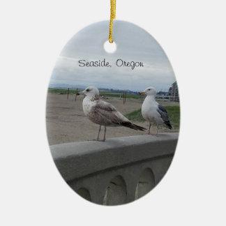 Seaside Oregon Seagulls on the Beach Prom Ornament