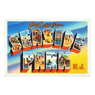 Seaside Park New Jersey NJ Old Vintage Postcard- Photo Print