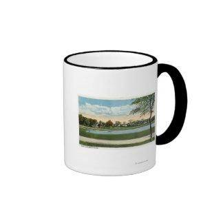 Seaside Park View of Mirror Lake Coffee Mug