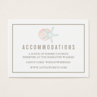 Seaside Pastels Hotel Accommodation Cards