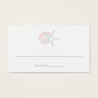 Seaside Pastels Wedding Escort Place Cards
