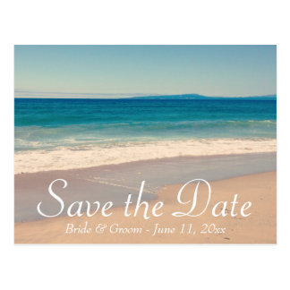 Seaside Photo Save the Date Postcard