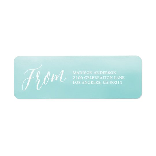 Seaside | Return Address Label