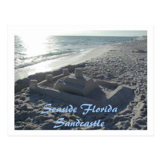 Seaside Sandcastle Postcard