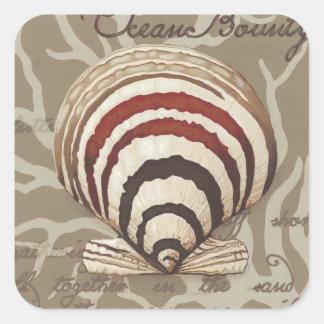 Seaside Sonnet II Square Sticker