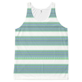 Seaside-Stripe's-Nautical-White(c)-Tank-Top All-Over Print Singlet