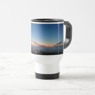 Seaside sunset. Night fishing with the boys Travel Mug