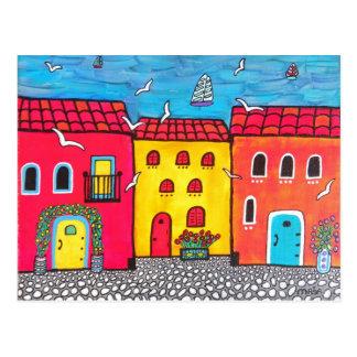 Seaside Villas Postcard