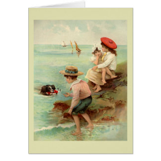 Seaside Vintage Illustration Card