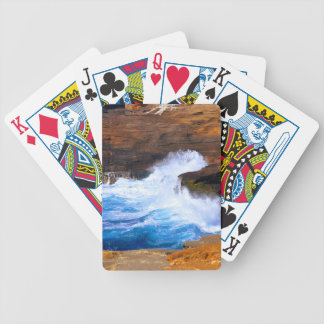 Seaside Wave Crash Bicycle Playing Cards