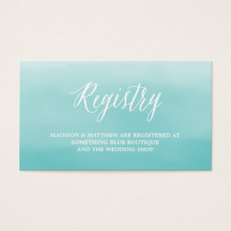 Seaside | Wedding Registry Card