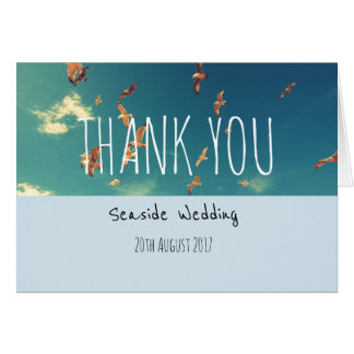 Seaside Wedding Thank You Card