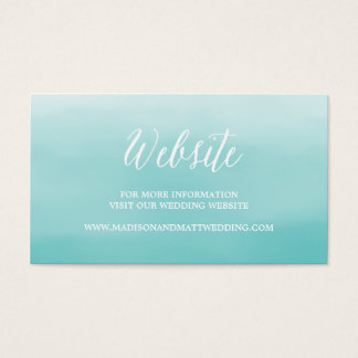 Seaside | Wedding Website Card