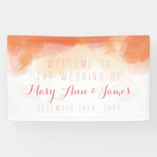 Seaside Wedding Welcome Blush Watercolor