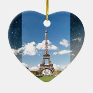 Season change in Paris Ceramic Heart Decoration