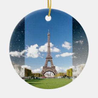 Season change in Paris Round Ceramic Decoration