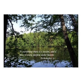 Season Ecclesiastes Lake Forest Business Card