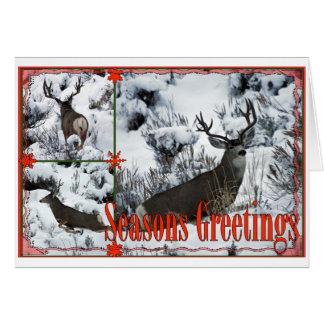 Season Greetings Buck Deer Card