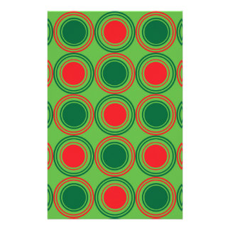 Season of Greetings Green and Red Customised Stationery