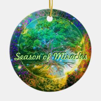 Season of Miracles - Tree of Life Wellness Ceramic Ornament