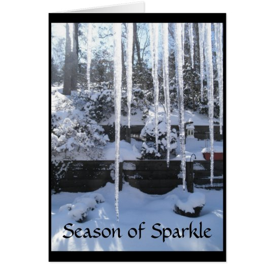 Season of Sparkle Holiday Greeting Card