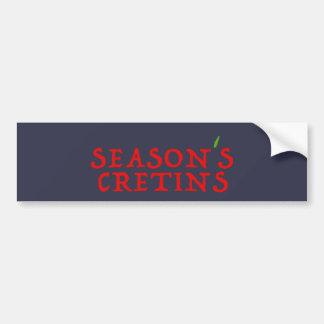 season`s cretins bumper sticker