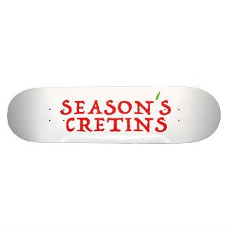 season`s cretins custom skate board