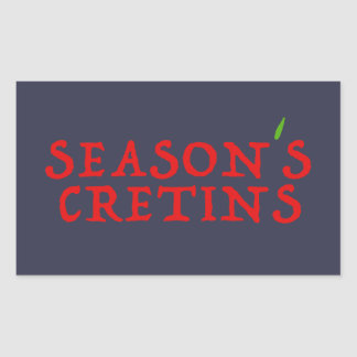 season`s cretins rectangular sticker