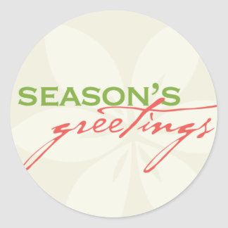 Season s Greetings Envelope Enclosure Sticker