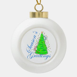 Season s Greetings Tree Ornaments