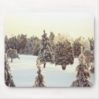 Season Themed, Nature Winter Scenery In Quebec Wit Mouse Pad