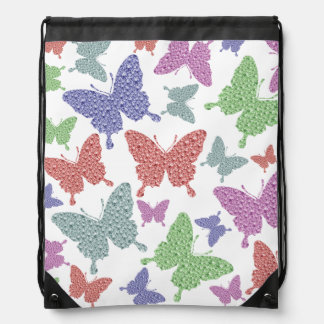 Seasonal Butterflies Drawstring Back Pack Drawstring Bag