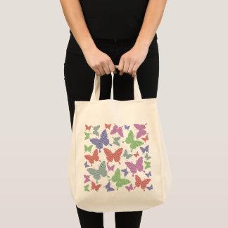 Seasonal Butterflies Grocery Tote Bag