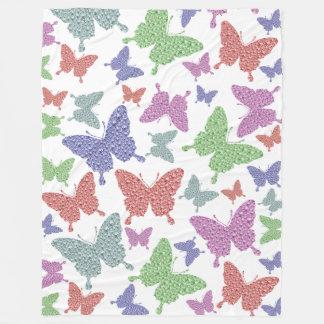 Seasonal Butterflies Large Fleece Blanket