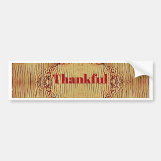 Seasonal Fall 'Thankful' Design Tote Bumper Sticker