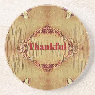 Seasonal Fall 'Thankful' Design Tote Coaster